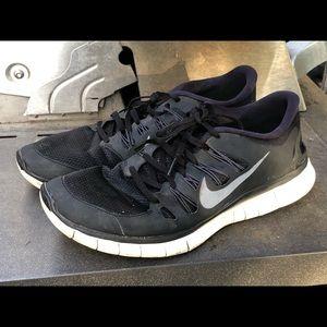 Nike Free Run 5.0 Mens Black White Shoes Size 13